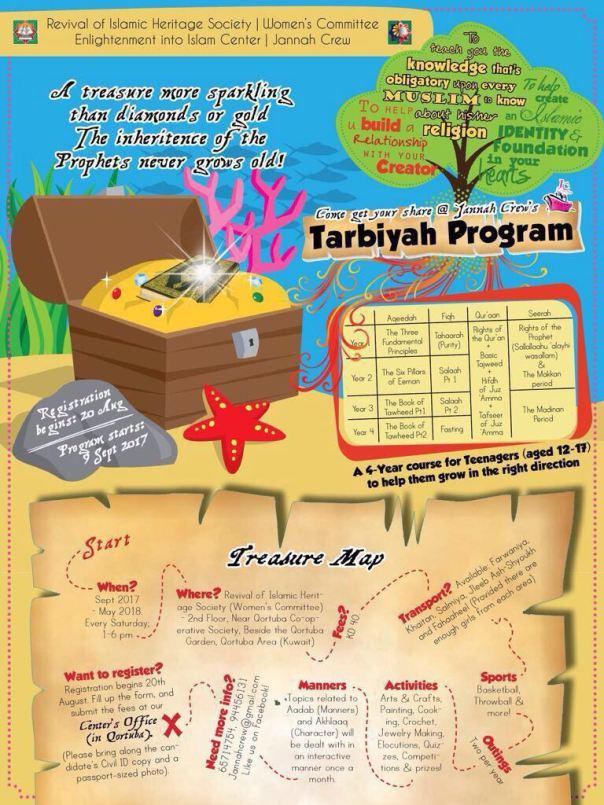 Jannah Crew Tarbiyah Program flyer Sept '17