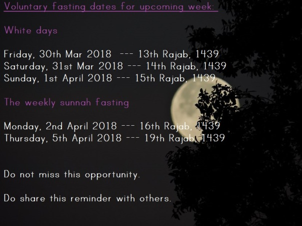 full moon image containing voluntary fasting dates