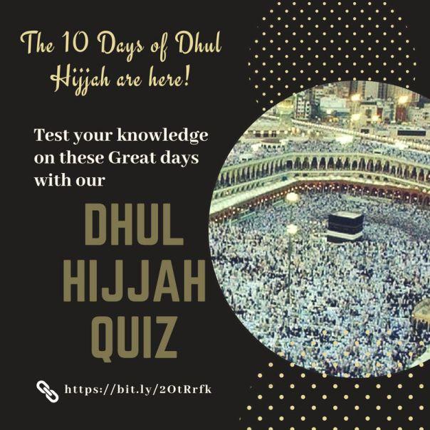 Dhul Hijjah Quiz here